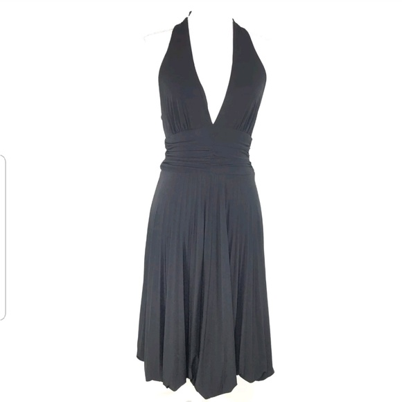 Cache Dresses & Skirts - Cache Women's Halter Ruched Pleated Dress